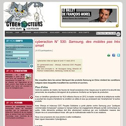 """cyberaction Samsung, des mobiles pas très """"smart"""""""