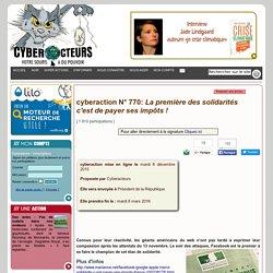 cyberaction La première des solidarités c'est de payer ses impôts !