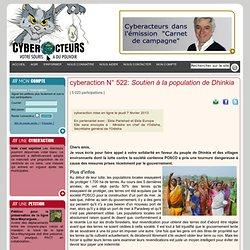 cyberaction Soutien à la population de Dhinkia