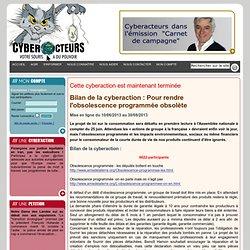 cyberaction Pour rendre l'obsolescence programmée obsolète
