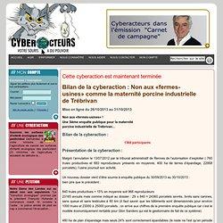 cyberaction Non aux «fermes-usines»comme la maternité porcine industrielle de Trébrivan