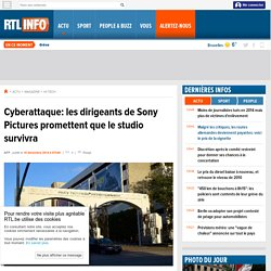 Cyberattaque: les dirigeants de Sony Pictures promettent que le studio survivra- RTL Info- RTL.be