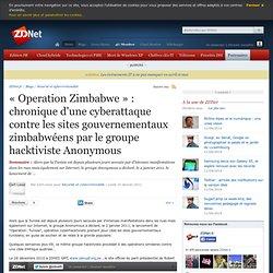 « Operation Zimbabwe » : chronique d'une cyberattaque contre les sites gouvernementaux zimbabwéens par le groupe hacktiviste Anonymous