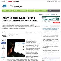 Internet, approvato il primo Codice contro il cyberbullismo