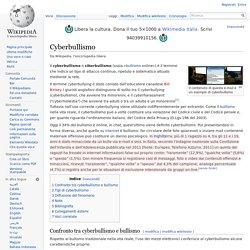 1) Cyberbullismo ( enciclopedia)