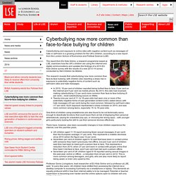 Cyberbullying now more common than face-to-face bullying for children - 07 - 2014 - News archive - News - News and media