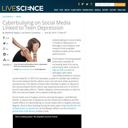 Cyberbullying on Social Media Linked to Teen Depression