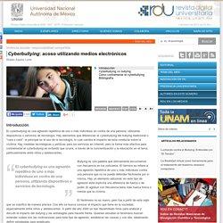 Cyberbullying: acoso utilizando medios electrónicos