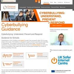 Cyberbullying guidance for schools