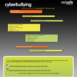 Cyberbullying information and advice for young people
