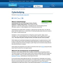 Cyberbullying (for Teens)