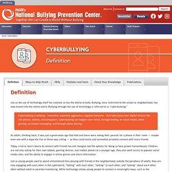 Cyberbullying - National Bullying Prevention Center
