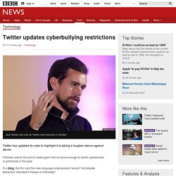 Twitter updates cyberbullying restrictions