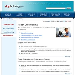 Report Cyberbullying