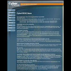 CyberCIEGE News