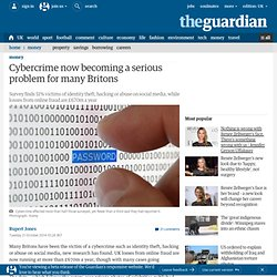 Cybercrime now becoming a serious problem for many Britons