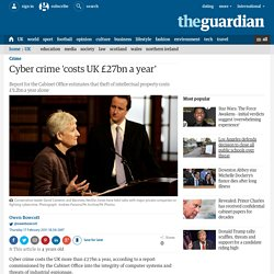Cybercrime 'costs UK £27bn a year'