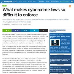 What makes cybercrime laws so difficult to enforce