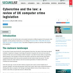 Cybercrime and the law: a review of UK computer crime legislation