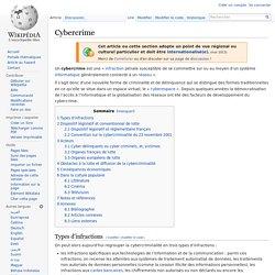 Définition du cybercrime (Wikipédia)