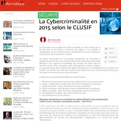 La Cybercriminalité en 2015 selon le CLUSIF
