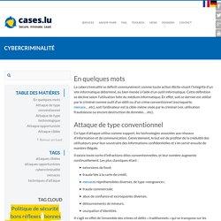 Cybercriminalité : toutes les formes d'attaques - Cases