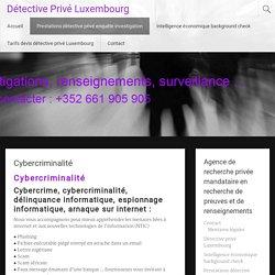 Cybercriminalité - Détective Privé Luxembourg
