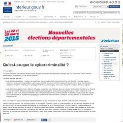 Qu'est-ce-que la cybercriminalité ? / Sur internet / Conseils pratiques / Ma sécurité