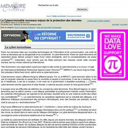 La Cybercriminalité nouveaux enjeux de la protection des données - SERRES Diane et CLUZEAU Anna