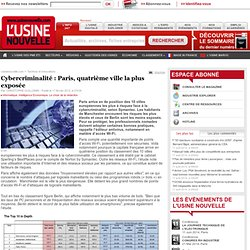Cybercriminalité : Paris, quatrième ville la plus exposée