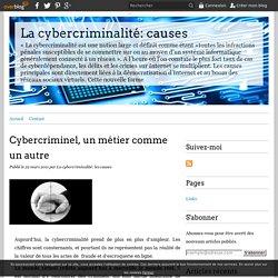 Cybercriminel, un métier comme un autre - La cybercriminalité: causes