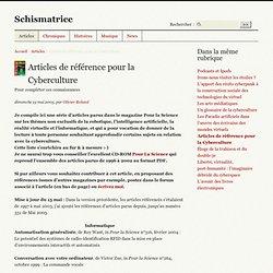 Articles de référence pour la Cyberculture