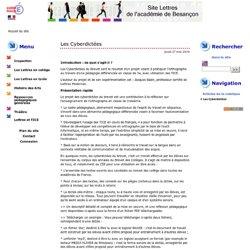 Les Cyberdictées - Site Lettres de l'Académie de Besançon