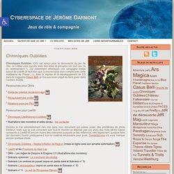 Cyberespace de Jérôme Darmont: Chroniques Oubliées