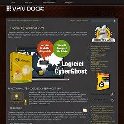 Logiciel CyberGhost VPN avec ses fonctionnalités
