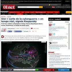 Une « carte de la cyberguerre » en temps réel, signée Kaspersky