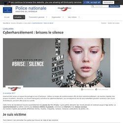 Cyberharcèlement: brisons le silence / L'actu police / Actualités - Police nationale - Ministère de l'Intérieur