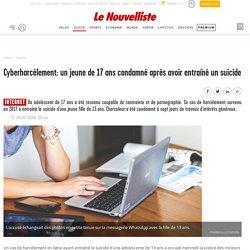 Cyberharcèlement: un jeune de 17 ans condamné après...