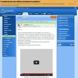"""Source informelle 1 : Que faire face au cyberharcèlement ? (+ vidéo """"cybersmile"""")"""