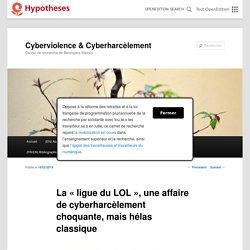 La « ligue du LOL », une affaire de cyberharcèlement choquante, mais hélas classique