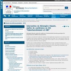 """Bérengère Stassin, maître de conférence en SIC """"Cyberharcèlement et EMI"""" — Documentation (CDI)"""