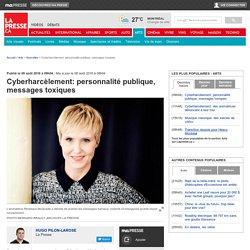 Cyberharcèlement: personnalité publique, messages toxiques