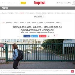 Selfies dénudés, insultes... Des victimes de cyberharcèlement témoignent