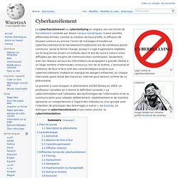 Cyberharcèlement wikipédia