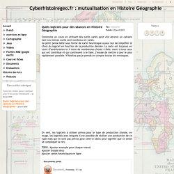 Quels logiciels pour des séances en Histoire Géographie