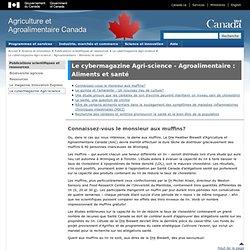 AGRICULTURE CANADA 25/09/13 Recherche des céréales et lentilles promouvoir la santé et le bien-être de la population