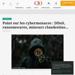 DDoS, ransomwares, mineurs clandestins... les cybermenaces prolifèrent