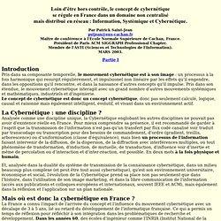 Cybernétique Information Systémique