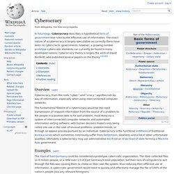 Cyberocracy