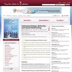 Cyberpsychology, Behavior, and Social Networking